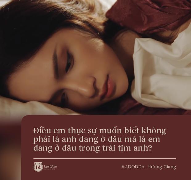 Làm MV thôi mà Hương Giang cho ra đời 3 câu quote tình yêu trúng thẳng tim các chị em, bảo sao mà series #ADODDA không hot! - Ảnh 1.