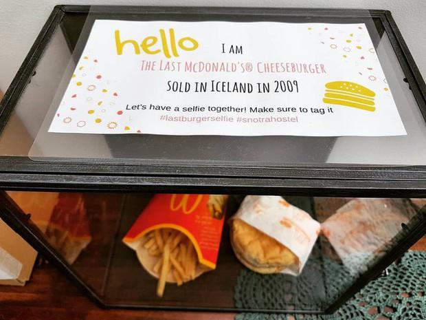 Suất ăn nhanh McDonald cuối cùng của Iceland được trưng bày tủ kính như tác phẩm nghệ thuật, 10 năm rồi vẫn chưa bị phân hủy - Ảnh 2.