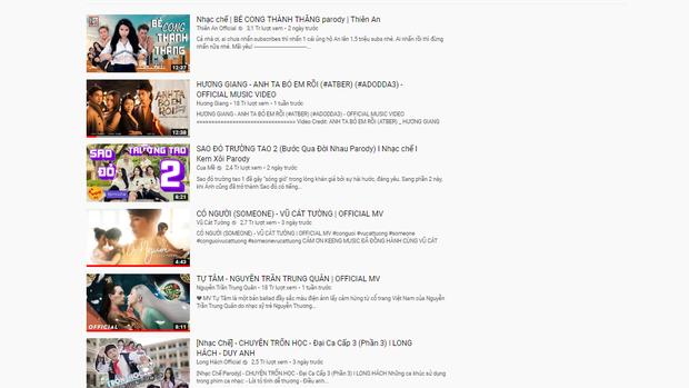 Hương Giang, Nguyễn Trần Trung Quân hay Vũ Cát Tường đều phải chào thua thế lực nhạc chế đang thâu tóm top trending Youtube! - Ảnh 2.