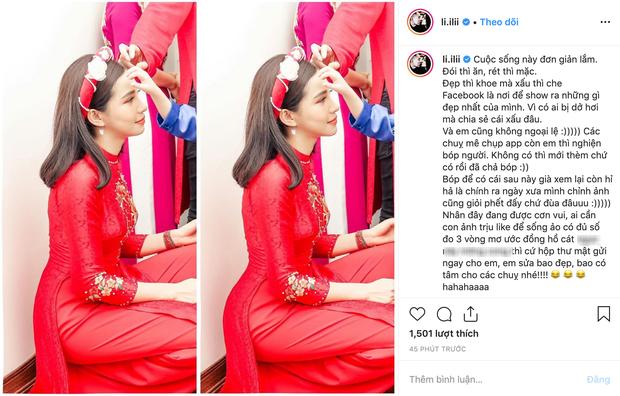 Lưu Đê Ly viết status giải trình về bức ảnh bóp người lộ liễu gây bão MXH, nhận photoshop miễn phí cho những ai muốn đẹp cấp tốc - Ảnh 2.