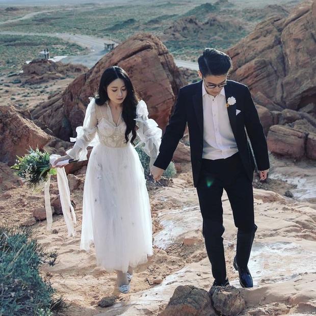 Rich kid nổi tiếng với màn shopping 2,3 tỷ khoe ảnh cưới chụp ở Mỹ, nhẫn cưới cũng đắt đỏ xứng tầm con nhà giàu - Ảnh 2.