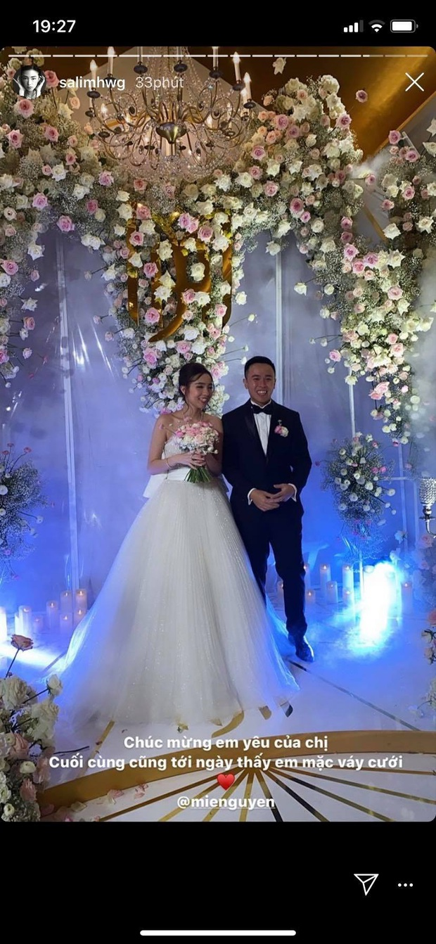 Đám cưới ngọt ngào của Mie: Cô dâu xinh xuất sắc, chú rể và dàn phù rể cũng cực phẩm không kém - Ảnh 2.