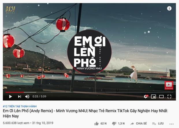 Hương Ly cover giúp Minh Vương M4U có thêm 1 phiên bản Em Ơi Lên Phố lọt top trending, thậm chí đè bẹp luôn vị trí của bản gốc - Ảnh 3.