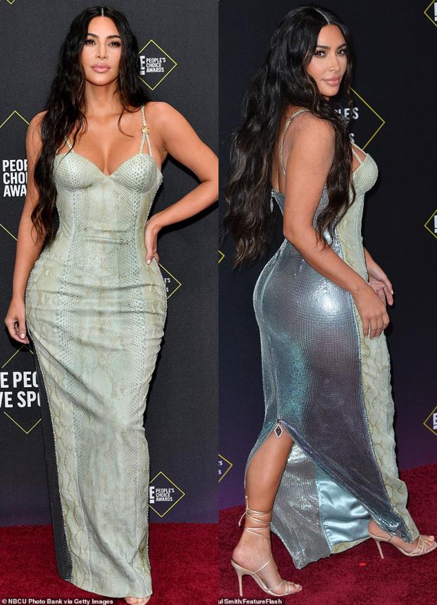 Siêu vòng 3 Kim Kardashian lột xác tại thảm đỏ PCAs sau khi giảm 8kg, body đỉnh cao và không còn quá xôi thịt - Ảnh 2.