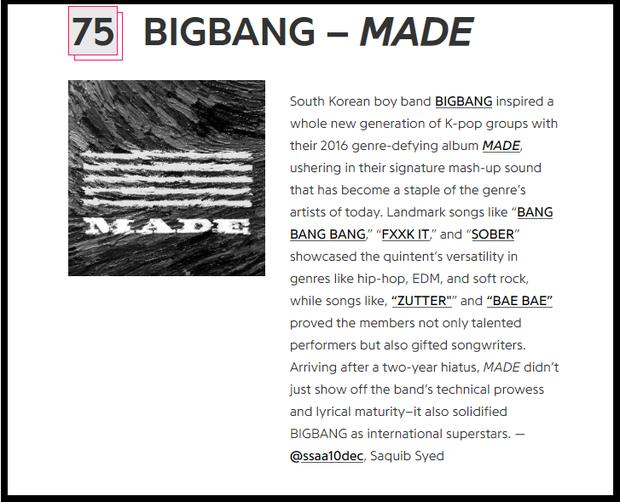 BTS và BIGBANG bất ngờ góp mặt vào top 100 album hay nhất thập kỷ, được đánh giá cao hơn cả Ariana Grande, Justin Bieber và Katy Perry - Ảnh 4.