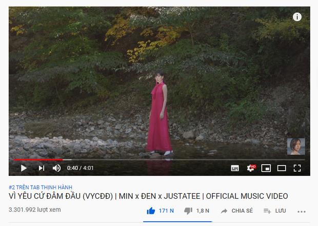 Hơn 2 ngày trôi qua, Min hợp sức Đen Vâu, JustaTee vẫn chưa thể soán ngôi top 1 trending của Thiên An nhạc chế! - Ảnh 1.