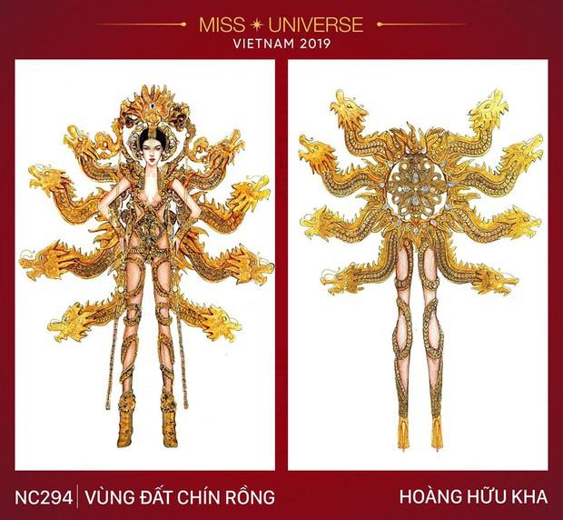Netizen khi xem 3 trang phục dân tộc của Hoàng Thùy: Khác xa bản vẽ, Vùng đất chín rồng bị chê tan nát - Ảnh 3.
