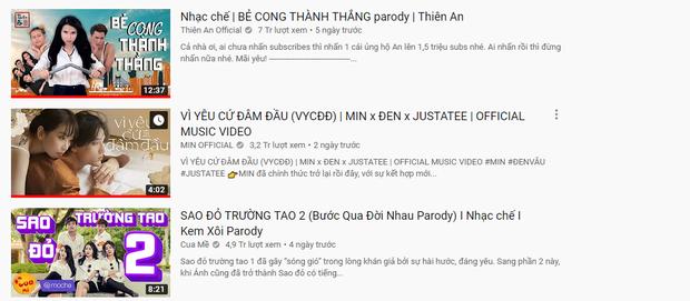 Hơn 2 ngày trôi qua, Min hợp sức Đen Vâu, JustaTee vẫn chưa thể soán ngôi top 1 trending của Thiên An nhạc chế! - Ảnh 2.