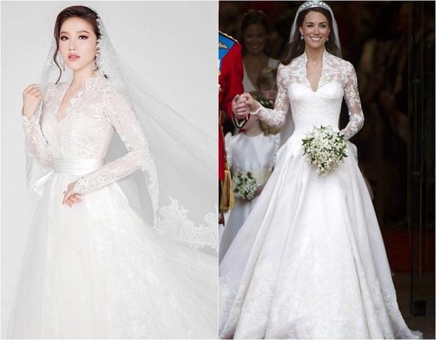 Bảo Thy khoe 3 mẫu váy cưới lộng lẫy, trong đó có 1 bộ phảng phất thiết kế kinh điển của Công nương Kate - Ảnh 11.