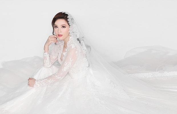 Bảo Thy khoe 3 mẫu váy cưới lộng lẫy, trong đó có 1 bộ phảng phất thiết kế kinh điển của Công nương Kate - Ảnh 8.