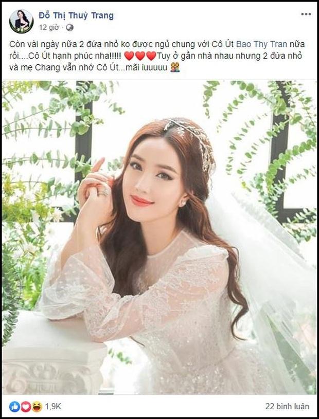 Trang Pilla tiết lộ chuyện cô út Bảo Thy toàn ngủ với 2 đứa nhỏ trước khi lấy chồng, dù ở gần nhưng vẫn nhớ - Ảnh 1.