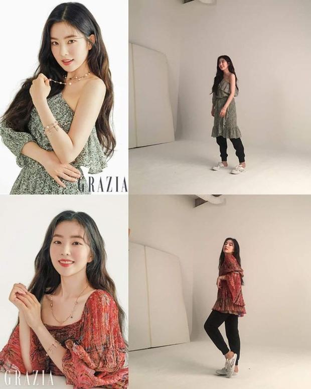 Irene nơi hậu trường photoshoot thời trang: Phần trên thì sang chảnh ngút ngàn, nhìn xuống dưới lại bô nhếch đến phì cười - Ảnh 3.