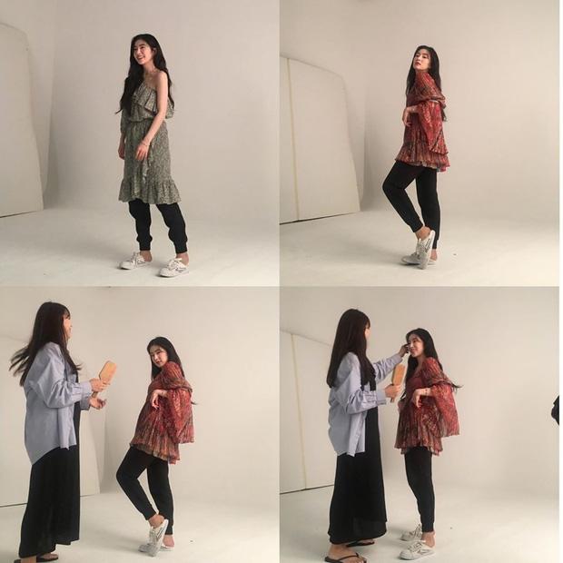 Irene nơi hậu trường photoshoot thời trang: Phần trên thì sang chảnh ngút ngàn, nhìn xuống dưới lại bô nhếch đến phì cười - Ảnh 2.