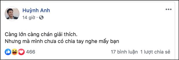 Huỳnh Anh cuối cùng đã chính thức lên tiếng trước tin đồn chia tay bạn gái Việt kiều - Ảnh 1.