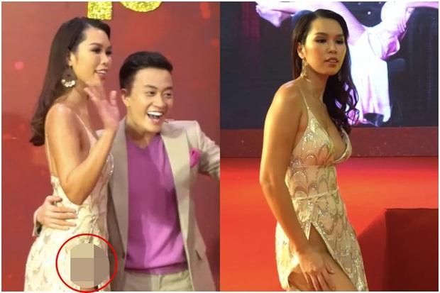 Diện váy cắt xẻ táo bạo, siêu mẫu Hà Anh lộ vùng nhạy cảm ngay trên siêu thảm đỏ hội ngộ Hà Tăng và dàn mỹ nhân Vbiz - Ảnh 3.