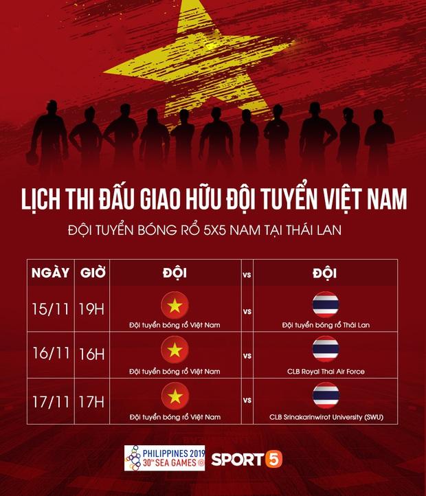 Lịch đấu giao hữu của đội tuyển bóng rổ Việt Nam trước thềm SEA Games 30 : Đối đầu người Thái trên xứ sở Chùa Vàng - Ảnh 1.