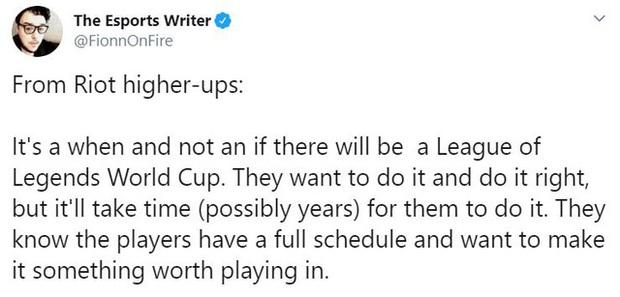 Riot Games đang có dự định tổ chức thêm giải đấu World Cup cho LMHT - Ảnh 1.