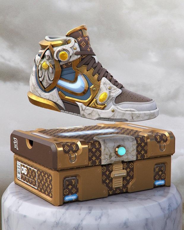 Cao hứng, fan tung thiết kế mẫu giày độc khiến các game thủ LMHT phải thán phục - Ảnh 1.