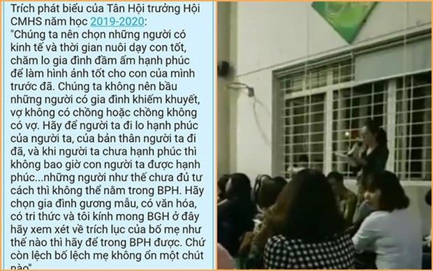Hội trưởng hội phụ huynh gây phẫn nộ với lời phát biểu sốc vì kỳ thị cha mẹ đơn thân và gia đình nghèo - Ảnh 1.