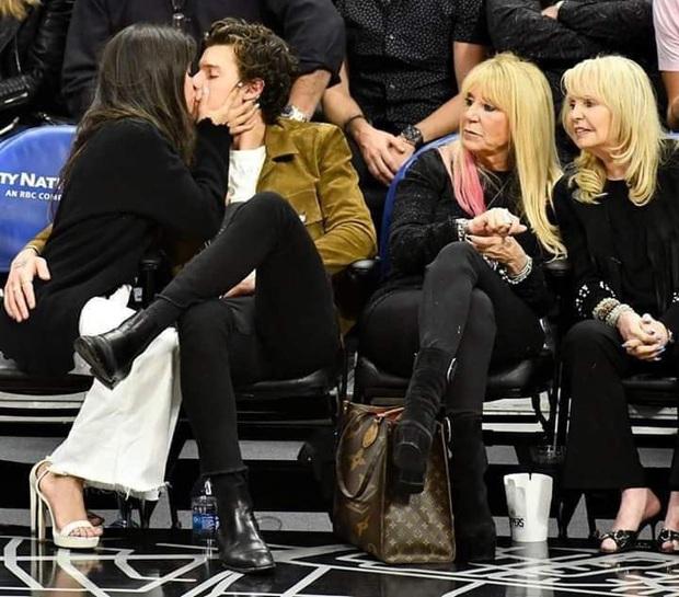 Bức hình gây bão mạng: Shawn Mendes - Camila hôn như vồ lấy nhau và đôi bạn già ngồi bên, nhìn mà tức á! - Ảnh 1.