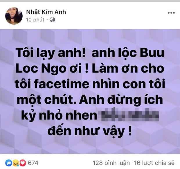 Bị chồng ngăn cản gặp con trai, Nhật Kim Anh bức xúc: Anh đừng ích kỷ nữa, tôi chịu hết nổi rồi! - Ảnh 1.