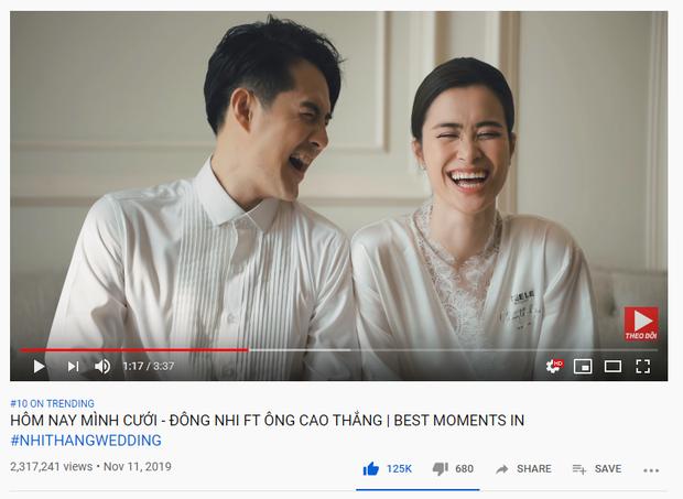 MV cưới Đông Nhi - Ông Cao Thắng leo hẳn top 10 trending, lập thành tích cao nhất sự nghiệp: đúng là đám cưới viên mãn đủ đường! - Ảnh 1.