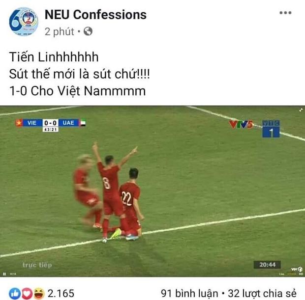 Dân mạng vỡ oà với bàn thắng quá đẹp của Việt Nam trước UAE: Siêu phẩm rồi Tiến Linh ơi! - Ảnh 1.