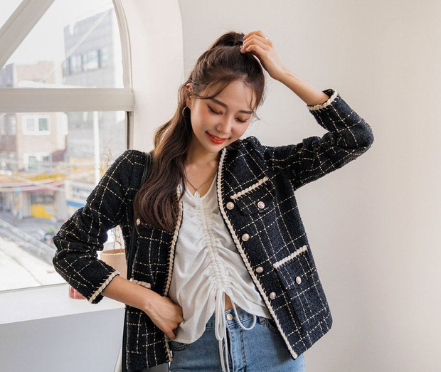 Áo khoác vải tweed: Các nàng sang chảnh nhất showbiz Việt - Hàn đều đang chết mê chết mệt, còn bạn thì sao? - Ảnh 7.