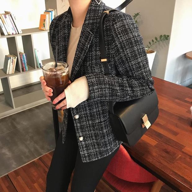 Áo khoác vải tweed: Các nàng sang chảnh nhất showbiz Việt - Hàn đều đang chết mê chết mệt, còn bạn thì sao? - Ảnh 9.