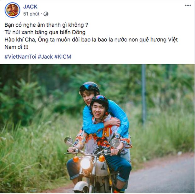 Jack và K-ICM hoà chung chiến thắng của đội tuyển Việt Nam, tung lời bài hát Việt Nam Tôi sắp ra mắt làm fan phổng mũi tự hào - Ảnh 1.