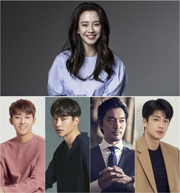 Sau 14 năm nằm không, mợ ngố Song Ji Hyo bỗng được tận 4 mỹ nam theo đuổi trong phim mới - Ảnh 1.