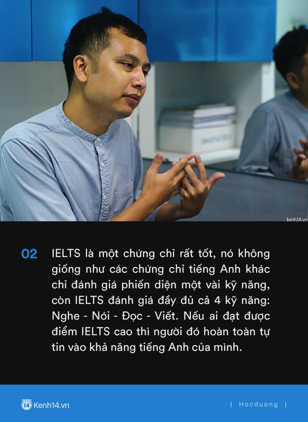 Thầy Tú Phạm 9.0 Speaking: Đạt 6.5 IELTS không khó, chỉ có điều học sinh Việt Nam giỏi mỗi khoanh ABCD, câu này đúng câu kia sai còn khả năng vận dụng bằng 0 - Ảnh 2.
