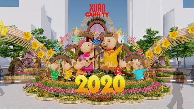 Đường hoa Nguyễn Huệ Xuân Canh Tý 2020 có gì đặc biệt? - Ảnh 1.