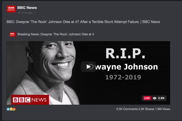Chấn động tin BBC tuyên bố tài tử Fast & Furious The Rock qua đời, nhưng sao vẫn online đăng ảnh ầm ầm thế này? - Ảnh 1.