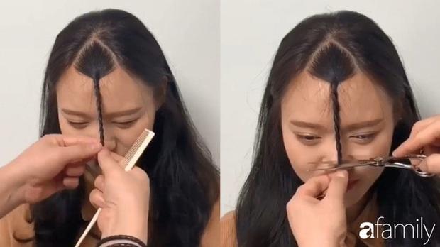 Để không hết hồn khi cắt tóc mái, hãy ghim ngay 3 cách cực hay này - Ảnh 4.