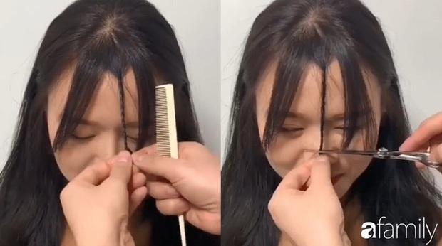 Để không hết hồn khi cắt tóc mái, hãy ghim ngay 3 cách cực hay này - Ảnh 5.