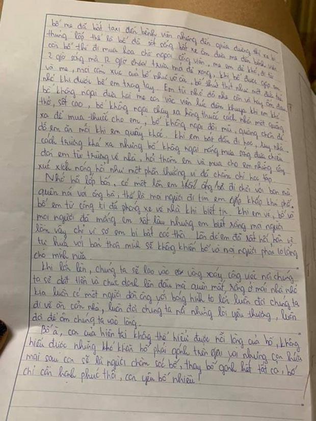 Không ngại kể xấu bố, nữ sinh lớp 7 gây bão với bức tâm thư gửi bố đạt 9,5 điểm kèm lời nhắn đặc biệt đến từ cô giáo - Ảnh 2.