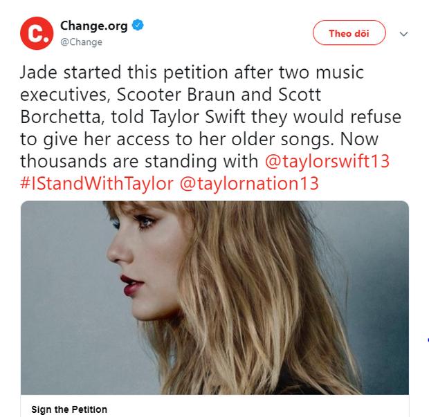 Hơn 100.000 người hâm mộ kí vào đơn yêu cầu để Taylor Swift được trình diễn các bản hit của mình, quyết không để vụ việc bị chôn vùi! - Ảnh 1.