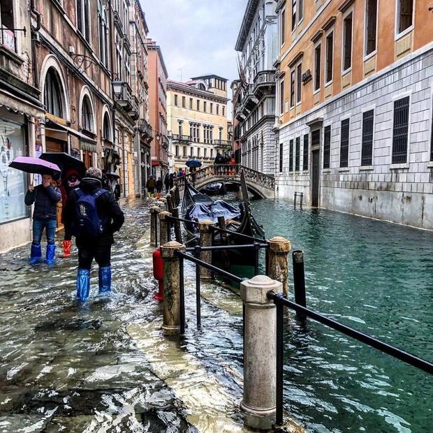 """""""Đen hơn cả anh Vâu"""" chính là khách du lịch ở Venice hiện tại: Mặc cho """"xung quanh toàn là nước"""" vẫn ngậm ngùi lội bì bõm check-in! - Ảnh 10."""