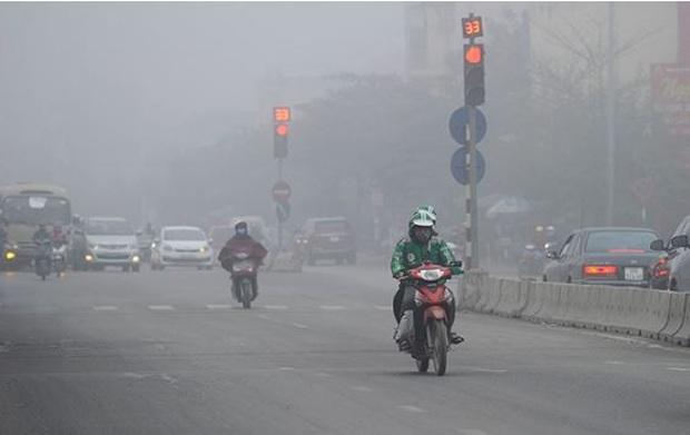 Ô nhiễm không khí lại tái diễn khắp miền Bắc - Ảnh 1.