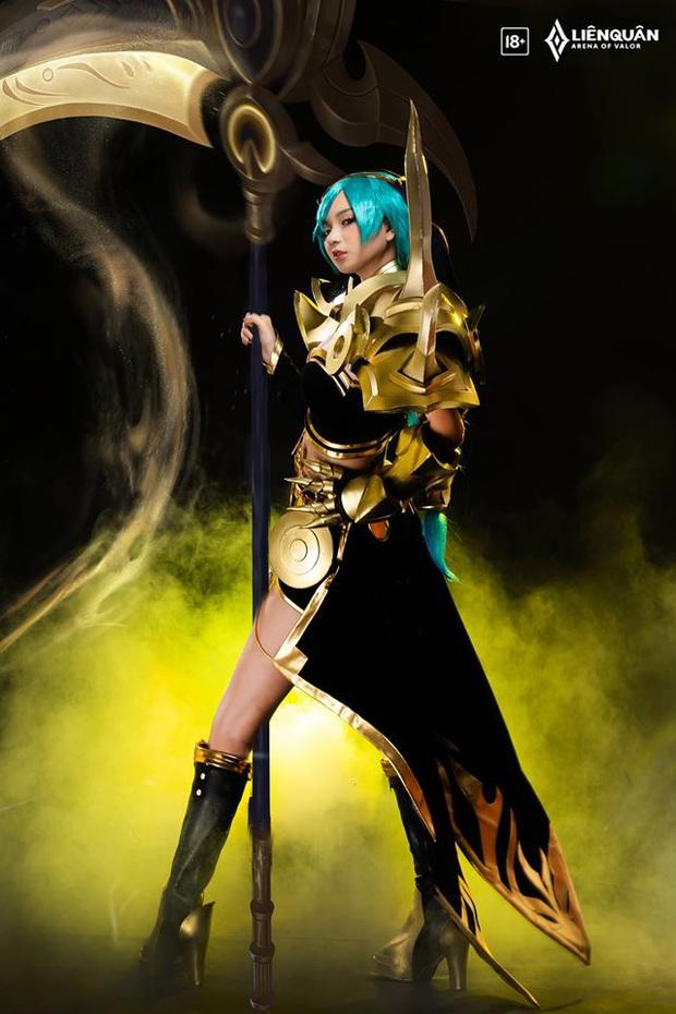 Liên Quân Mobile: Nghẹt thở với bộ ảnh cosplay bức tử vòng 1 của skin mới Mina Lưỡi Hái Hoàng Kim - Ảnh 9.