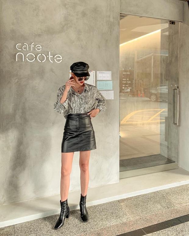 Hết Yoona rồi đến Hà Tăng ưu ái diện chân váy da, bạn sao có thể kìm lòng trước item sang chảnh hào nhoáng này? - Ảnh 12.