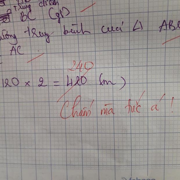 Học sinh làm sai phép toán cực kỳ dễ, cô giáo chấm bài chỉ biết nhận xét: Chấm mà tức á khiến dân mạng cười bò - Ảnh 3.