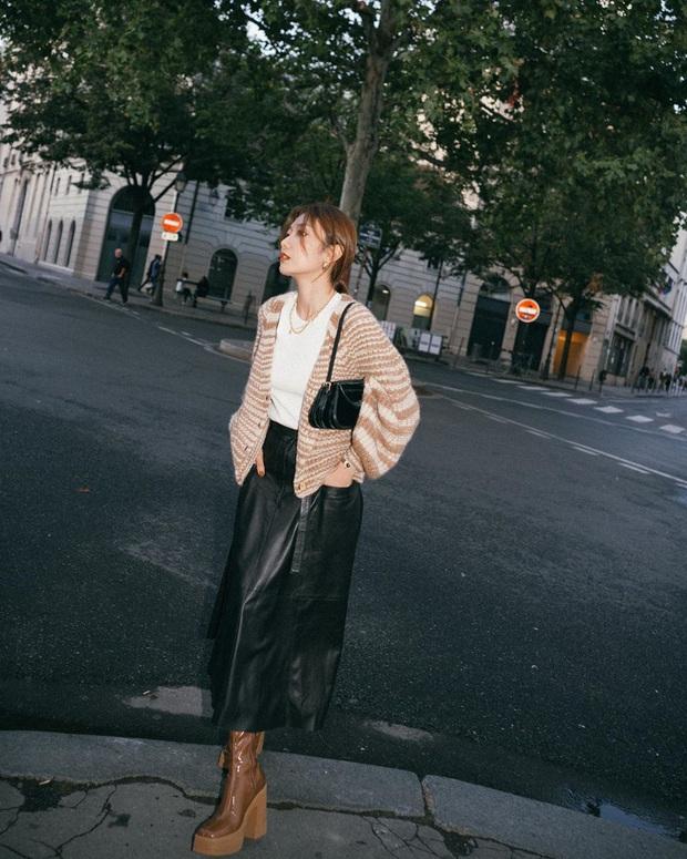 Hết Yoona rồi đến Hà Tăng ưu ái diện chân váy da, bạn sao có thể kìm lòng trước item sang chảnh hào nhoáng này? - Ảnh 5.