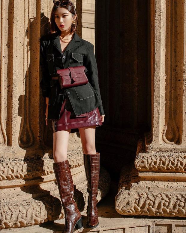 Hết Yoona rồi đến Hà Tăng ưu ái diện chân váy da, bạn sao có thể kìm lòng trước item sang chảnh hào nhoáng này? - Ảnh 6.