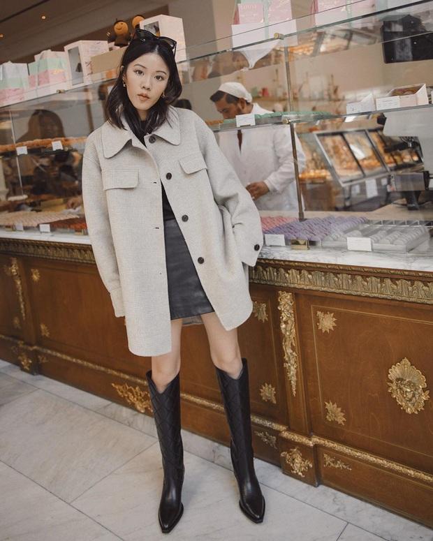 Hết Yoona rồi đến Hà Tăng ưu ái diện chân váy da, bạn sao có thể kìm lòng trước item sang chảnh hào nhoáng này? - Ảnh 7.