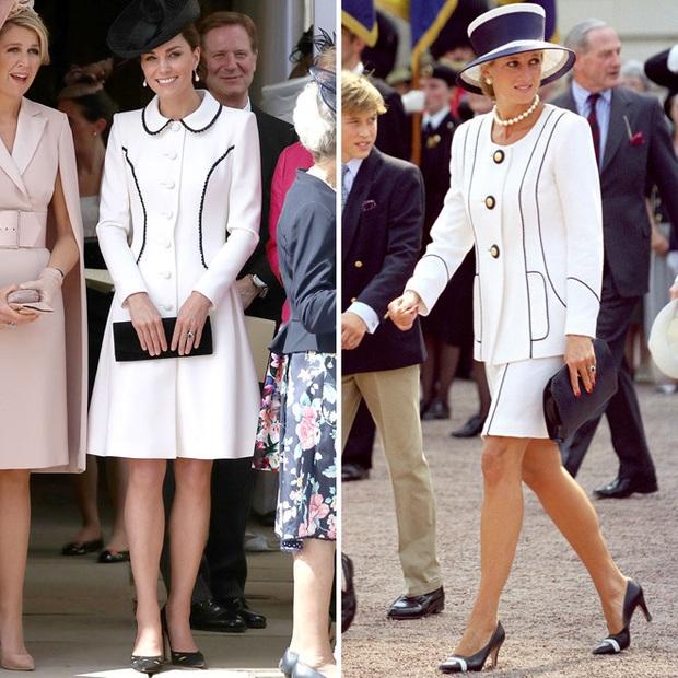 Diện đồ tím chuẩn trend, Công nương Kate lại khiến dân tình nhớ đến hình ảnh của mẹ chồng Diana - Ảnh 8.
