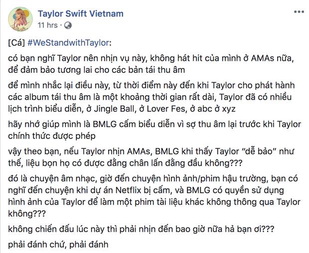 Hơn 100.000 người hâm mộ kí vào đơn yêu cầu để Taylor Swift được trình diễn các bản hit của mình, quyết không để vụ việc bị chôn vùi! - Ảnh 3.
