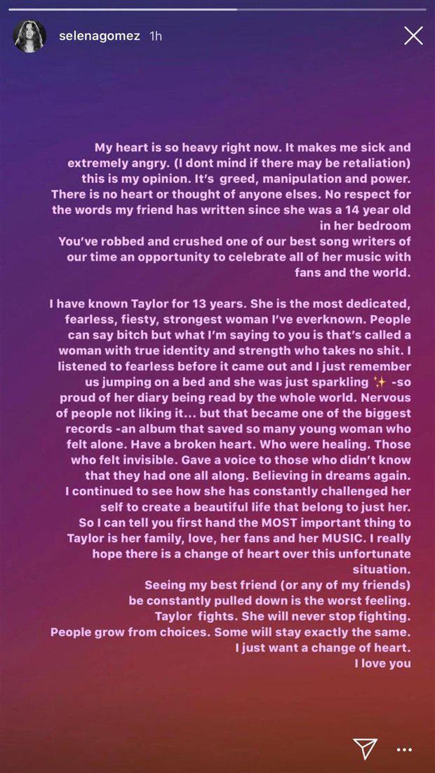Ngoài Selena Gomez, Gigi Hadid, Halsey, Camila Cabello và hội bạn thân đều lên tiếng ủng hộ Taylor Swift trong cuộc chiến bản quyền với Scooter Braun - Ảnh 2.
