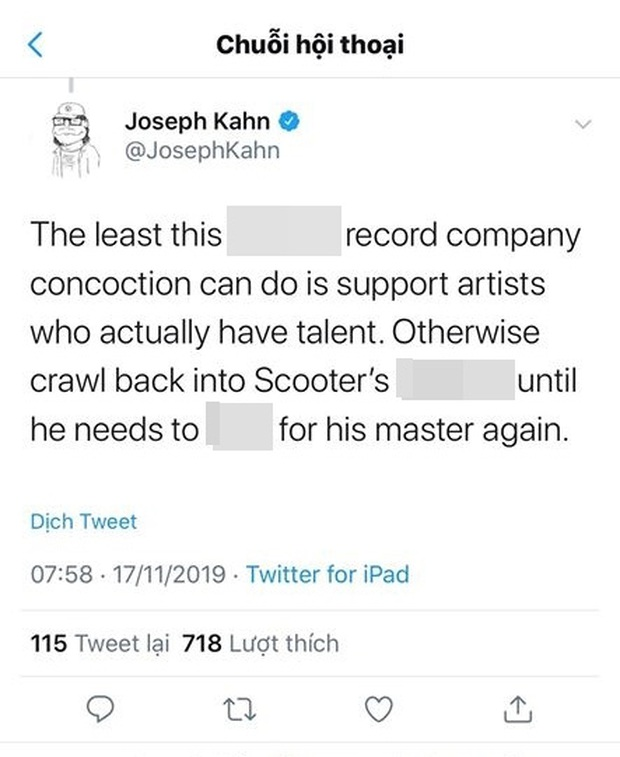 Đạo diễn loạt MV tỉ view của Taylor Swift thẳng thừng gọi Justin Bieber là đồ rác rưởi, chỉ trích thậm tệ vì bênh vực Scooter Braun - Ảnh 2.